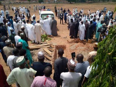 Late Abba Kyari buried at Gudu Cemetery, Abuja