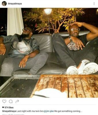 Timaya And Jim Iyke Pictured Together (photo)