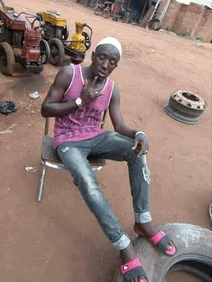Vulcanizer Dies After Tyre Explodes While Trying To Change The Tyre Of A Car (Graphic Photo)
