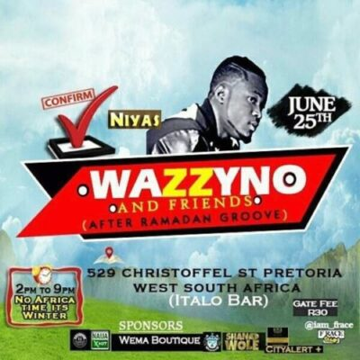 Opa6, Bolo J, Niyas To Perform At Wazzyno's First Show In South Africa