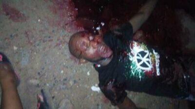 Unknown Gunmen killed A Man In Yenagoa, Bayelsa State (Graphic Pics)