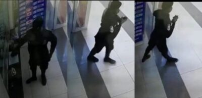 Policeman Caught On CCTV Stealing Phone At Ghana Mall (Video)