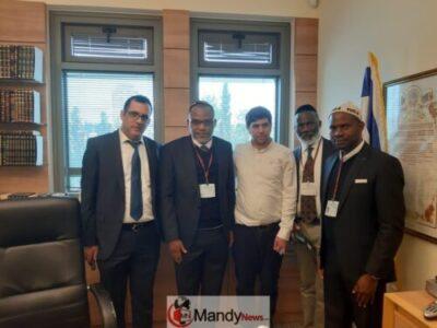 Nnamdi Kanu Visits Israeli Parliament, Meets 'Influential' Knesset Member (Pics)