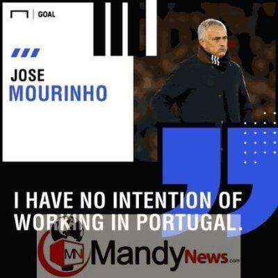 """I Have No Plans To Work In Portugal"" - Jose Mourinho Rules Out Benfica Return"