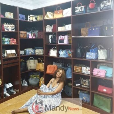 Linda Ikeji Shows Her Designer Bags In Her Closet (Photo)