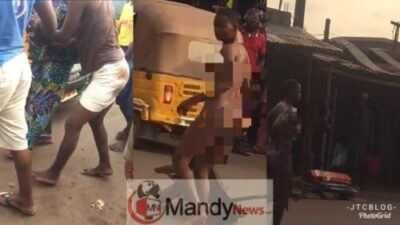 Lady Strips Unclad, Runs Mad In Enugu After Car Dropped Her Off
