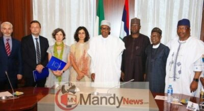 President Buhari Receives A Delegation Of European Union In Aso Rock Today (Photos)