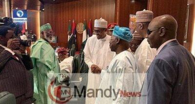 Obasanjo And Buhari Meet, Shake Hands At Council Of State Meeting (Photos)