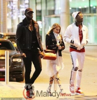Photos: Paul Pogba Steps Out With Beautiful Girlfriend, Maria Salaues