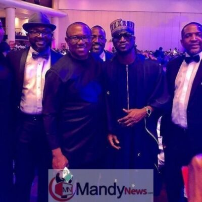 Paul Okoye With PDP Vice Presidential Candidate, Peter Obi