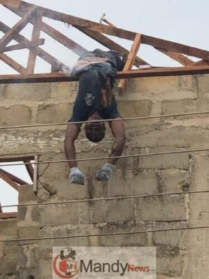 Carpenter Electrocuted While Working In Delta State (Disturbing Photos)