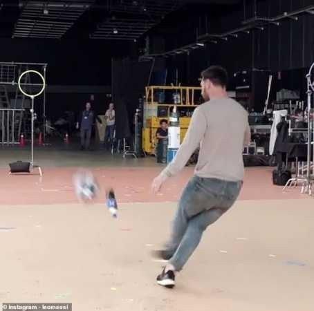 Lionel Messi Produces Amazing Bottle Flip In New Pepsi Advert (Photos, Video)