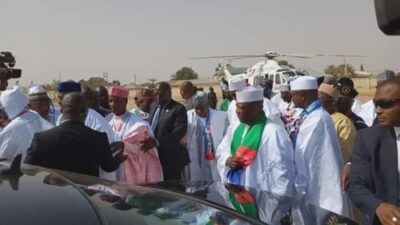 Buhari Arrives In Zamfara, For His Campaign Rally