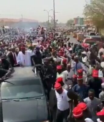 Kwankwaso Mobbed With Shouts Of 'Kwankwasiya' As He Campaigns In Kano (Photos)