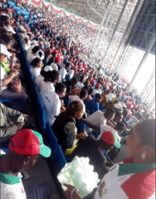 Photos Of Crowd Waiting For Atiku At His Rally In Rivers