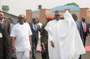 Governor Wike Receives President Buhari In Port Harcourt (Photos)
