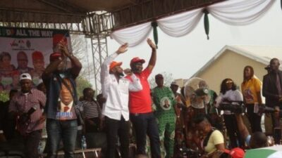 Flavour, Davido, Mr. Raw, Zoro, E-Money, Thrill Thousands At PDP Enugu West Rally