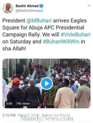 Buhari Arrived Eagles Square Abuja To Flag Off Presidential Campaign