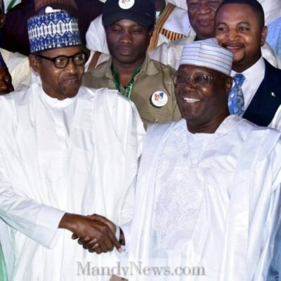Peace Accord: Caption This Picture Of President Buhari And Atiku