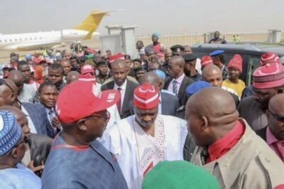 Atiku Arrives In Kano For Campaign Rally (photos)