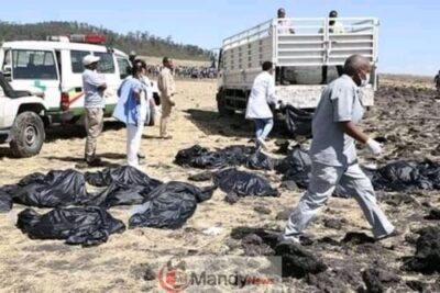 , Crash site Of Ethiopian Airlines That Killed 157 People (Photos)