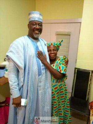 Dino Melaye and his mother, Deconess Comfort Melaye