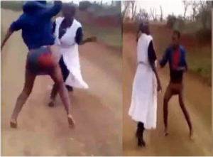Lady flogs her mother to stupor after her pastor revealed she is a witch