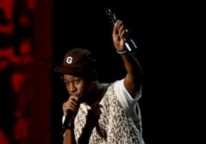 Tyler, the Creator won the Brit Award for International Male Solo Artist at The BRIT Awards 2020 (Picture: Dave J Hogan/Getty Images)