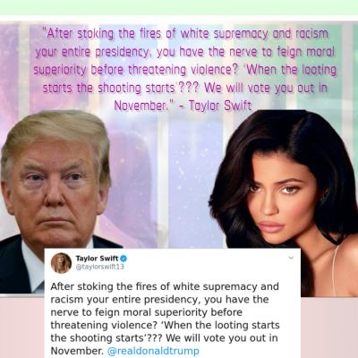 Taylor Swift and Donald Trump tweet