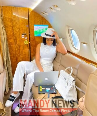 Chika Ike Flies In A Private Jet