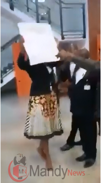 Woman Takes #EndSARS Protests To National Assembly (Video)