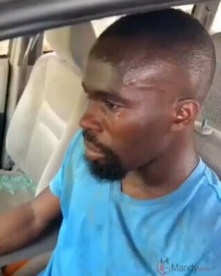 Young Man In Tears After ProSARS Vandalises His Car (Video)