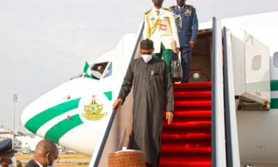 Buhari Returns Home From London With Young Skin