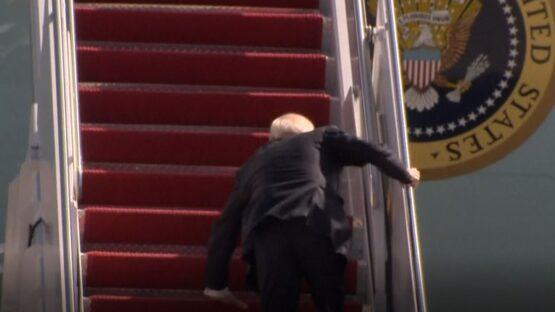 Watch Video Of Joe Biden Falling Down Stairs of Air Force One