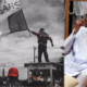 EndSARS protest and President Muhammadu Buhari used to illustrate the story 1